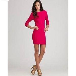 Diane Von Furstenberg Pink Long Sleeve dress Arita